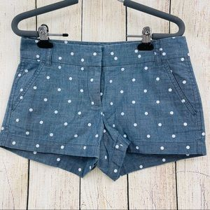 J Crew Factory dotted chambray shorts